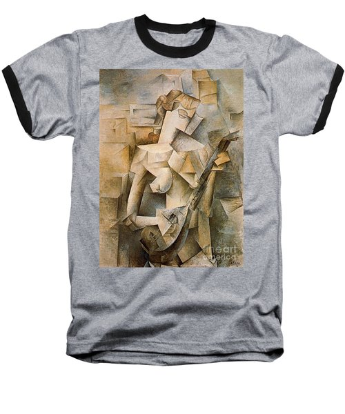 Girl With A Mandolin Baseball T-Shirt by Picasso