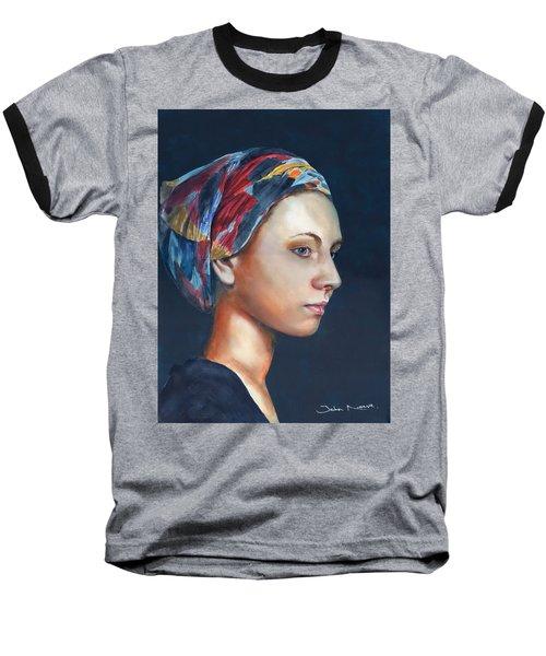 Girl With Headscarf Baseball T-Shirt