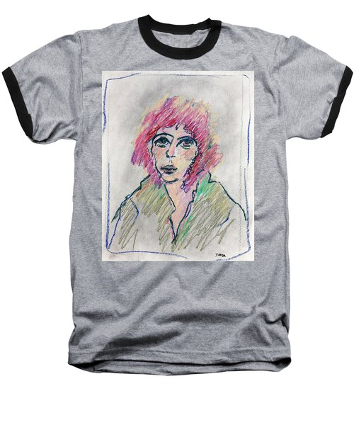 Girl With Pink Hair  Baseball T-Shirt
