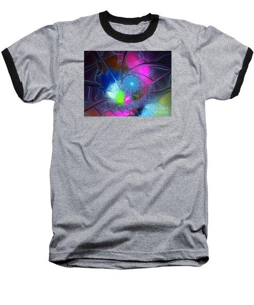 Baseball T-Shirt featuring the digital art Girls Love Pink by Karin Kuhlmann