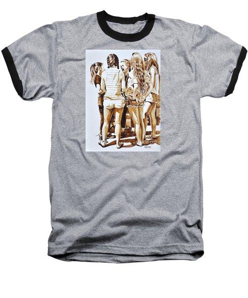 Girls Summer Fun Baseball T-Shirt