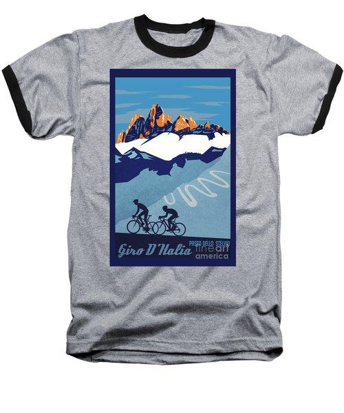 Giro D'italia Cycling Poster Baseball T-Shirt