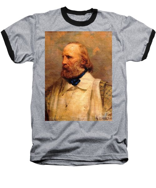 Baseball T-Shirt featuring the painting Giuseppe Garibaldi by Pg Reproductions