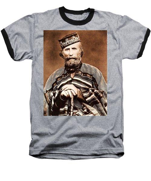 Giuseppe Garibaldi Baseball T-Shirt by Roberto Prusso