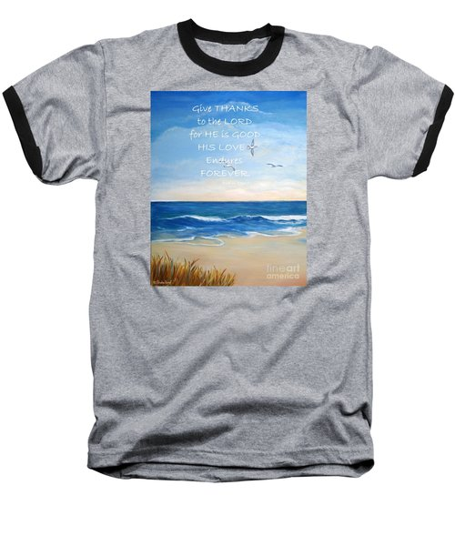 Baseball T-Shirt featuring the painting Give Thanks by Shelia Kempf