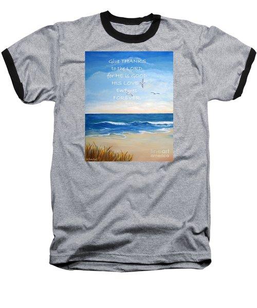 Give Thanks Baseball T-Shirt by Shelia Kempf