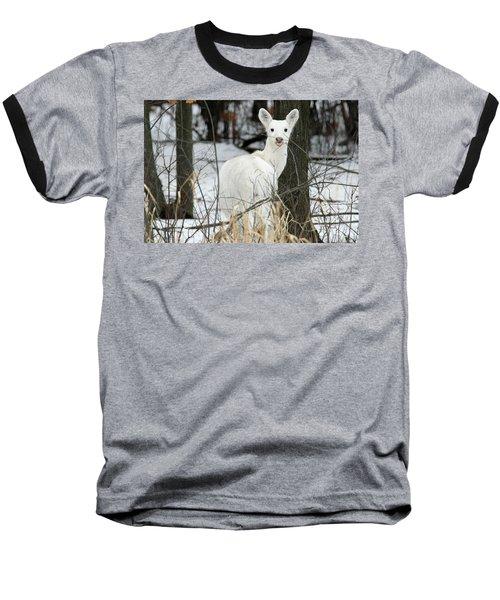 Giving Raspberries Baseball T-Shirt by Brook Burling