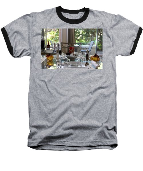 Giving Thanks In California Thanksgiving Table Baseball T-Shirt