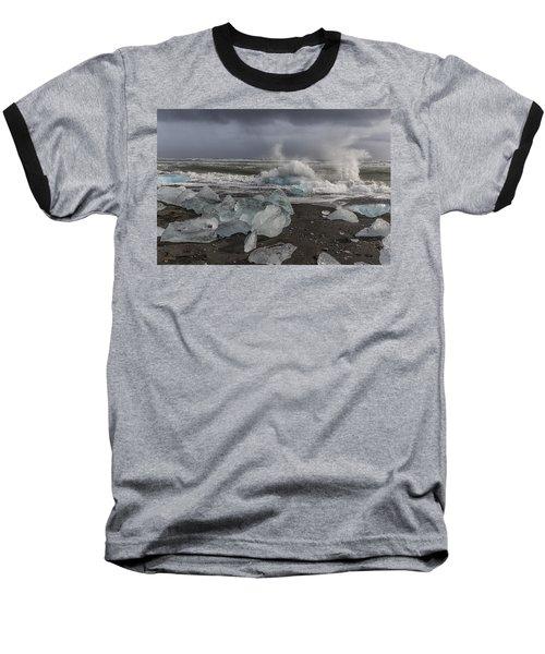 Glacial Lagoon Iceland 2 Baseball T-Shirt