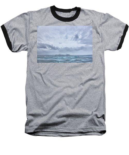 Glacial Lagoon Iceland Baseball T-Shirt