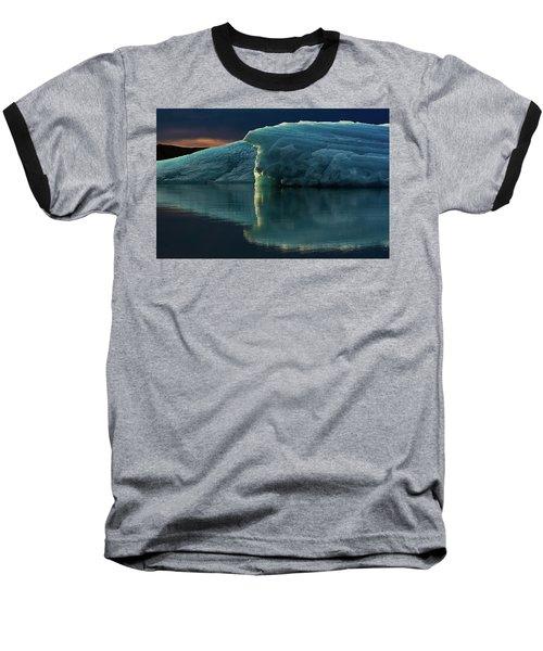 Glacial Lagoon Reflections Baseball T-Shirt by Allen Biedrzycki