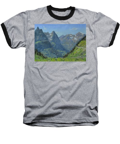 Glacier Afternoon Baseball T-Shirt