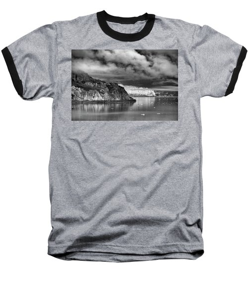 Glacier Bay Alaska In Bw Baseball T-Shirt