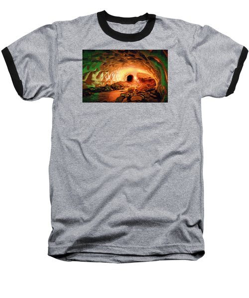 Glacier Caves Baseball T-Shirt by Mario Carini