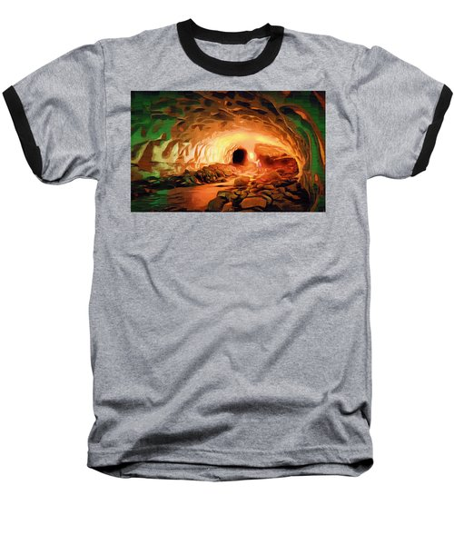 Glacier Caves Baseball T-Shirt