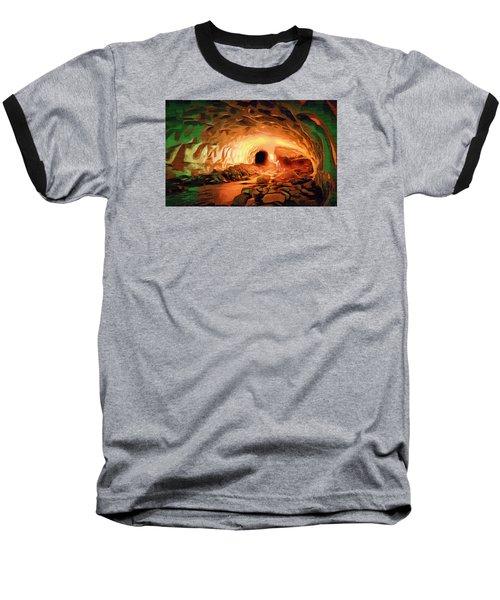 Glacier Caves Baseball T-Shirt