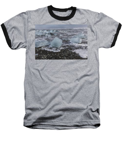 Glacier Ice 3 Baseball T-Shirt by Kathy Adams Clark