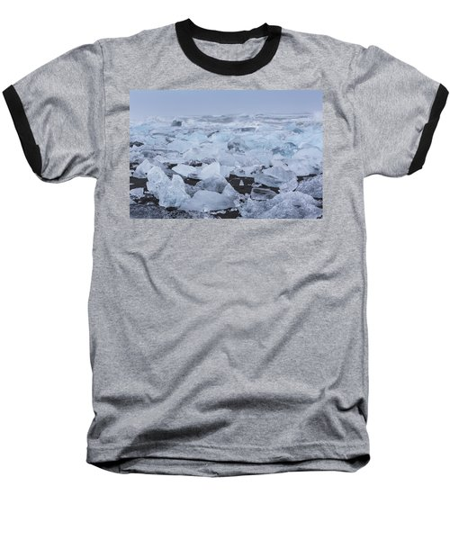 Glacier Ice Baseball T-Shirt by Kathy Adams Clark