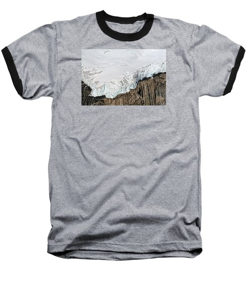 Glacier In Mt Denali Park Baseball T-Shirt