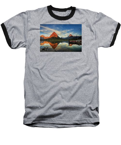 Baseball T-Shirt featuring the photograph Glacier Morning by Andrew Soundarajan
