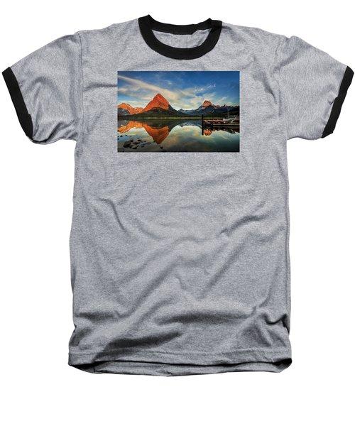 Glacier Morning Baseball T-Shirt