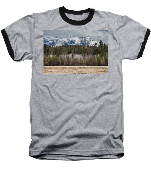 Baseball T-Shirt featuring the photograph Glacier National Park Peaks by Fran Riley