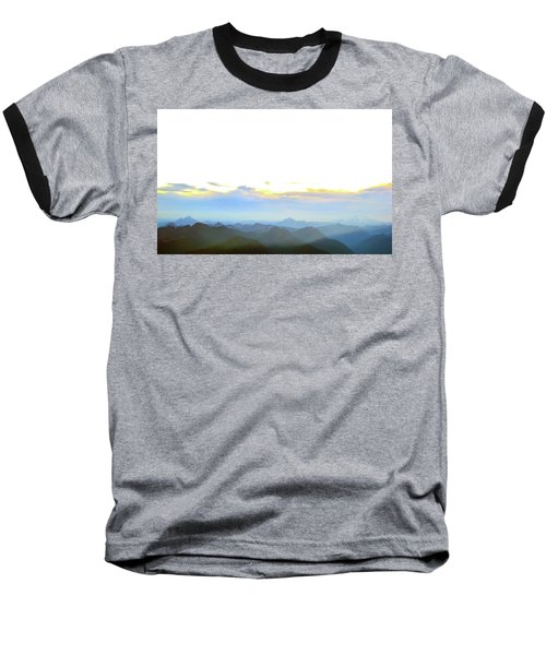 Glacier Peak At Sunrise Baseball T-Shirt