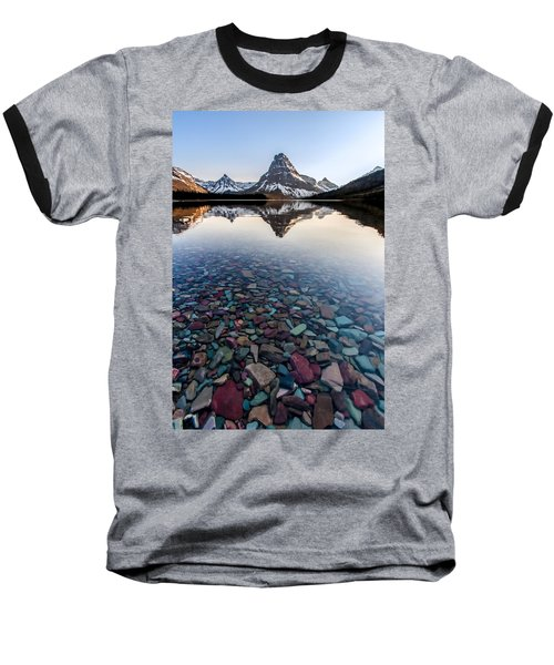 Baseball T-Shirt featuring the photograph Glacier Skittles by Aaron Aldrich