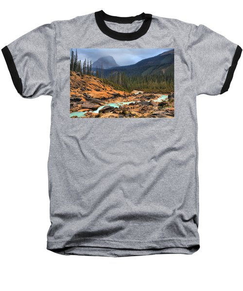 Baseball T-Shirt featuring the photograph Glacier Waters Flowing Through Yoho National Park by Adam Jewell