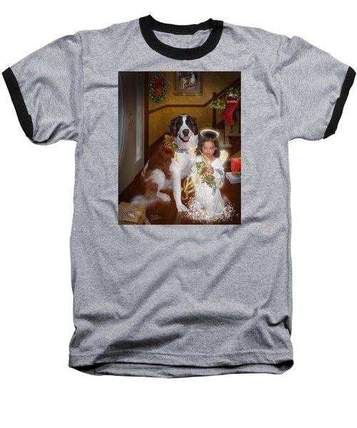 Baseball T-Shirt featuring the digital art Glad Tidings by Doug Kreuger
