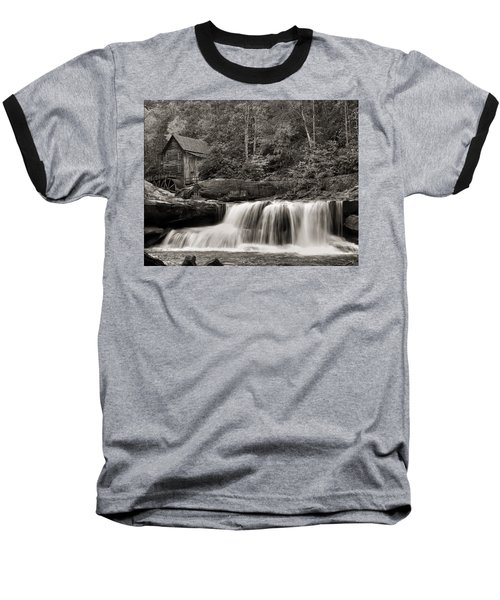 Glade Creek Grist Mill Monochrome Baseball T-Shirt