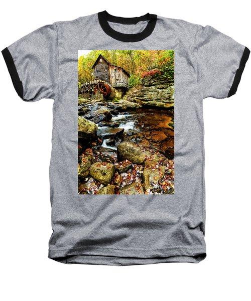 Glade Creek Grist Mill Fall  Baseball T-Shirt