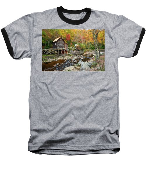 Glade Creek Grist Mill In Autumn Baseball T-Shirt