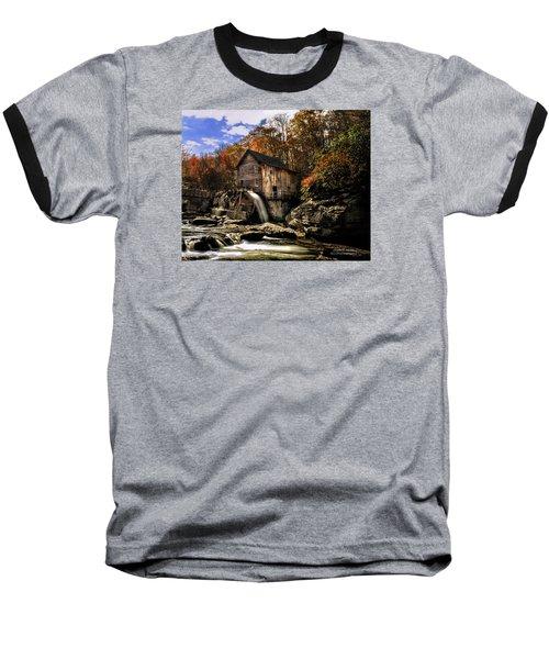 Glade Creek Grist Mill Baseball T-Shirt by Mark Allen