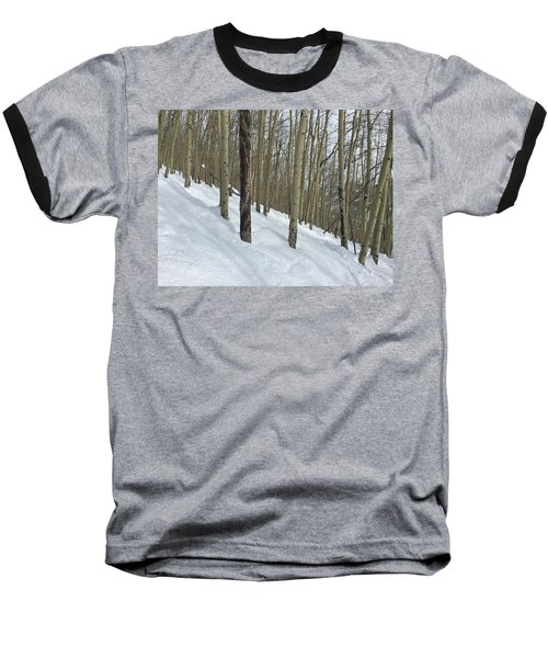 Gladed Run Baseball T-Shirt by Christin Brodie