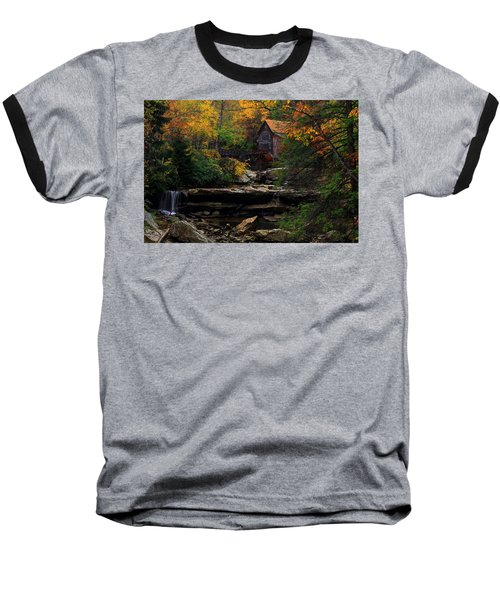 Glades Creek Grist Mill West Virginia Baseball T-Shirt
