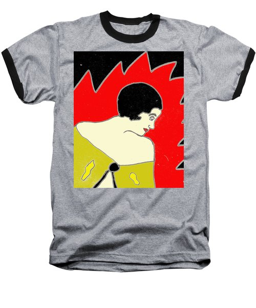 Glancing Down Baseball T-Shirt