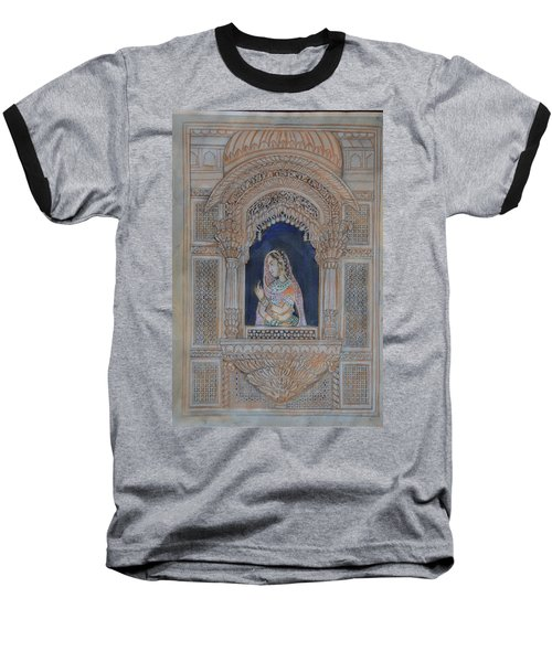 Glancing From Her Window Baseball T-Shirt by Vikram Singh
