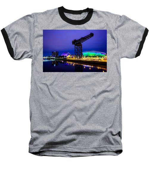 Glasgow At Night Baseball T-Shirt