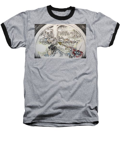 Glass Aftermath Baseball T-Shirt by Scott and Dixie Wiley
