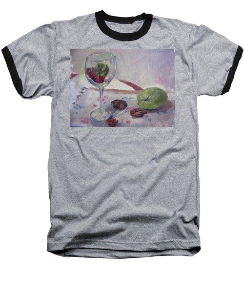 Glass And Fruit Baseball T-Shirt