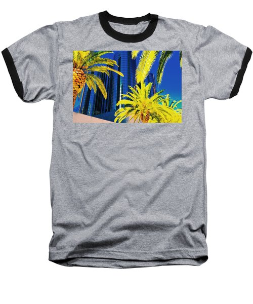 Glass And Palms Baseball T-Shirt by Joe Burns