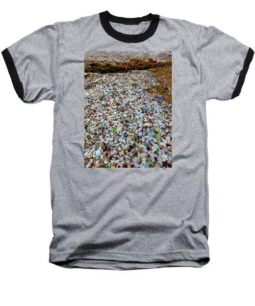 Glass Beach Baseball T-Shirt by Amelia Racca