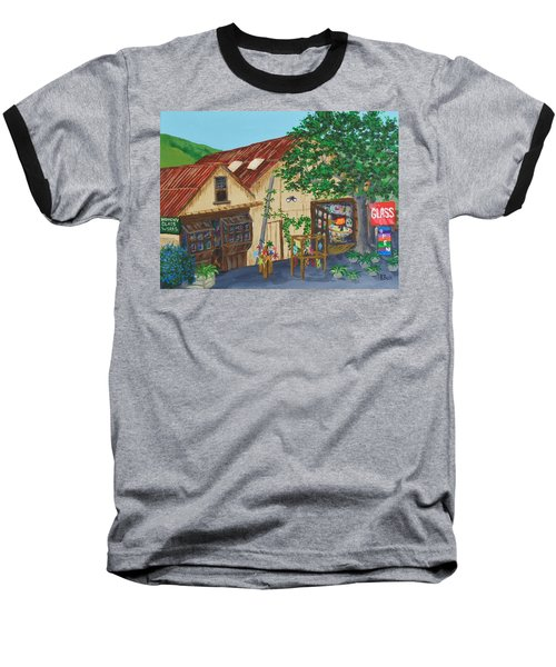 Glass Blower Shop Harmony California Baseball T-Shirt by Katherine Young-Beck
