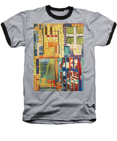 Baseball T-Shirt featuring the painting Glass Bottom Boeing by Donna Howard