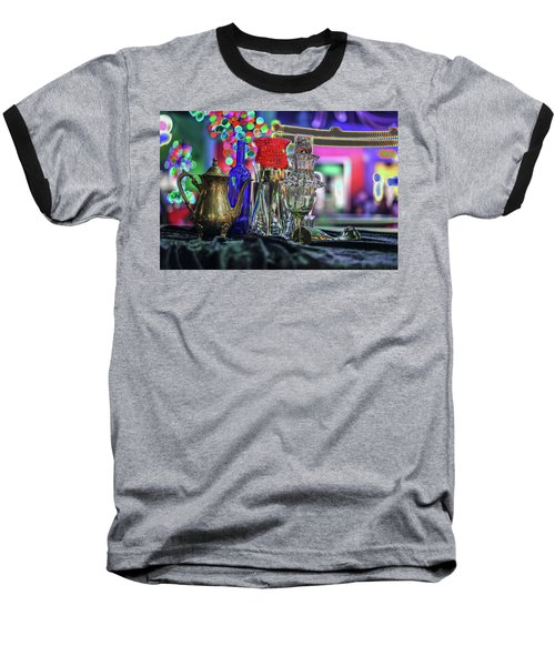 Glass In The Frame Of Colorful Hearts Baseball T-Shirt