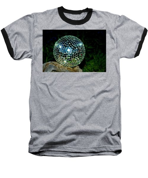 Baseball T-Shirt featuring the photograph Glass On Wood by Albert Seger