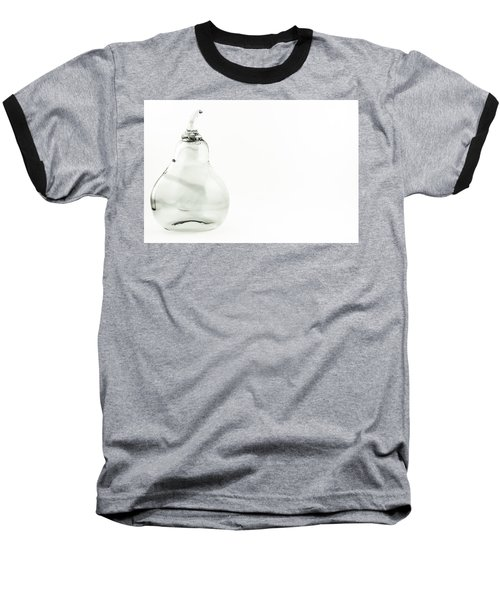 Glass Pear In Black And White Baseball T-Shirt