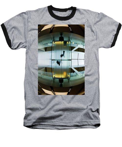 Glass Walkway Apple Store Stockton Street San Francisco Baseball T-Shirt