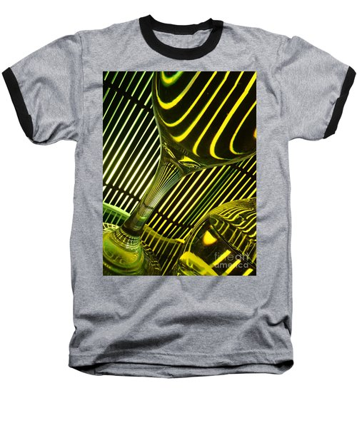 Glasses And Lines Baseball T-Shirt by Trena Mara